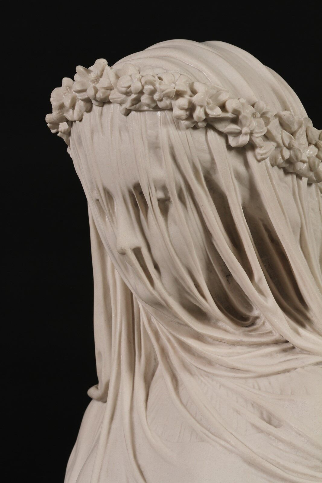 veiled lady bride classical carrara
