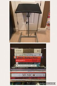 Books on Music  and Adjustable Stand
