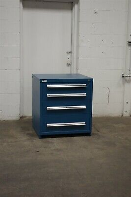 Used Vidmar 4 Drawer Cabinet 33 High Industrial Bench Storage 1801 Proto