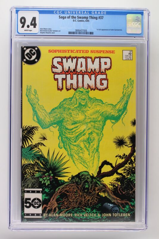Saga of the Swamp Thing #37 - DC 1985 CGC 9.4 1st Appearance of John Constantine