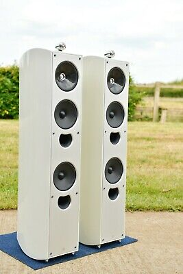 KEF XQ5 FIVE Floorstanding Speakers CREAM High Gloss 4way Uni-Q + HyperTweeter