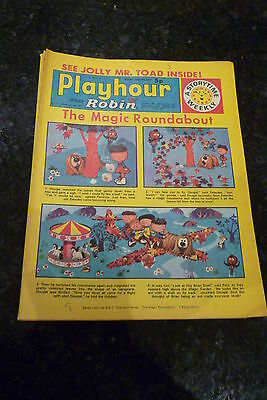 """PLAYHOUR & ROBIN - (1972) - Date 11/11/1972 -  Inc """"The Magic Roundabout"""""""