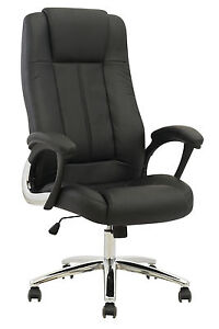High Back Executive PU Leather Ergonomic Computer  Desk Task Office Chair O6