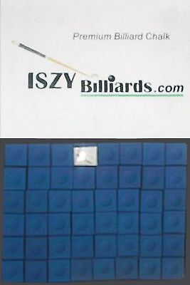 Premium Pool Table Billiard Cue Chalk 12 Pieces Blue