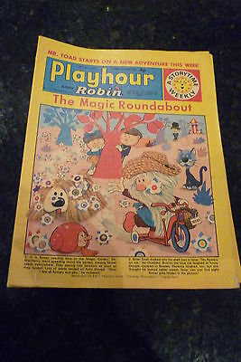 """PLAYHOUR & ROBIN - (1972) - Date 13/05/1972 - Inc """"The Magic Roundabout"""""""
