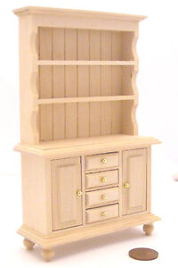 1:12 Scale Kitchen Natural Finish Welsh Dresser Dolls House Miniature 063
