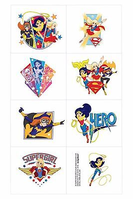 Superhero Party Favor Ideas (DC Supergirls Tattoos - Party Favours and Loot Ideas - Selling stickers)