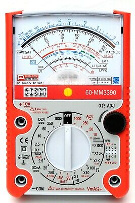 Jcm Mm3390 High X100k Scale Analog Multimeter W Capacitor And Transistor Check