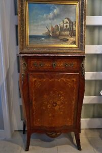 19th Louis XV cabinet table with marble top