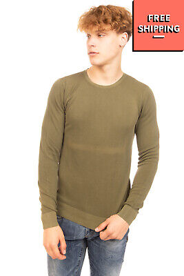 RRP €120 PAOLO PECORA Jumper Size M Thin Knit Garment Dye Long Sleeve Crew Neck