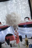 Feather Ball Centre Piece - For Rent