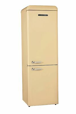 Schneider Kühl- Gefrierkombination A++ 300L Retro Kühlschrank Creme matt groß