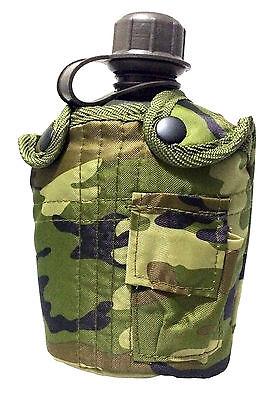 US FELDFLASCHE 1 L Wasserflasche Trinkflasche Bundeswehr Army flecktarn tarn  m2