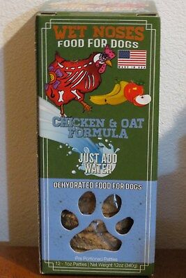 WET NOSES Food for DOGS ~ Pre-Portioned Dehydrated Chicken / Oat HEALTHY!  USA!