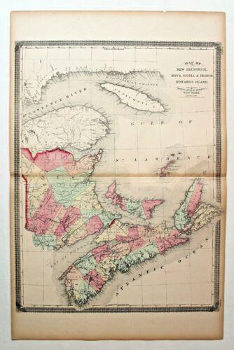 1874 NEW BRUNSWICK-NOVA SCOTIA-PRINCE EDWARDS ISLAND By TAINTOR BROS & MERRILL