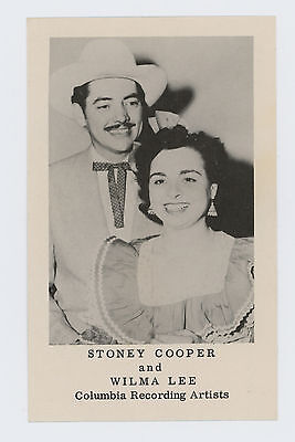 COUNTRY MUSIC PERFORMERS STONEY COOPER & WILMA LEE COOPER POSTCARD