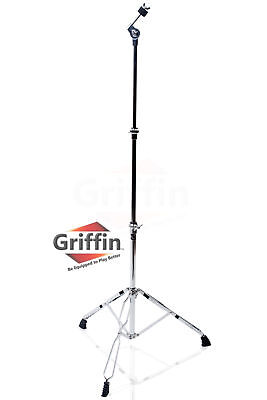 Griffin Straight Cymbal Stand - Drum Hardware Percussion Mount Holder Gear Set
