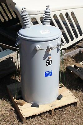New 50 Kva Eaton Cooper Pole Mount Transformer 720012470 -120240v