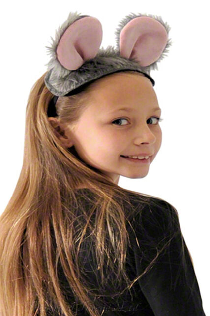 Kids Rat Costume Ears and Tail Grey Mouse Fancy Dress World Book Day Pied Piper