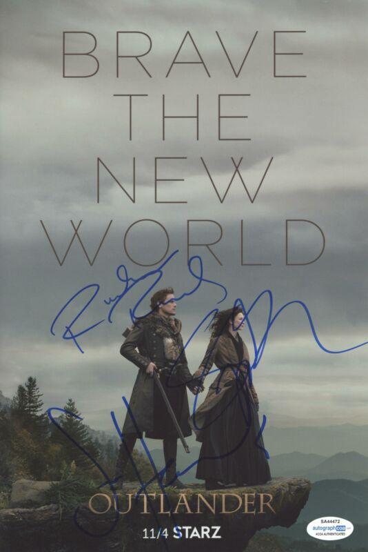 "Sam Heughan, Richard Rankin & Sophie Skelton ""Outlander"" SIGNED 8x12 Photo ACOA"