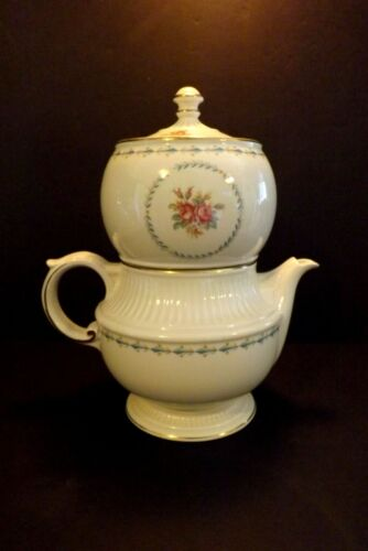 Vintage Harmony House Mount Vernon 4 Pc Ceramic Coffee Pot Drip Infuser Hall