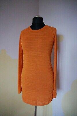 Womens genuine DAGMAR dress S 8 10 casual tunic top slim fit jumper sexy orange