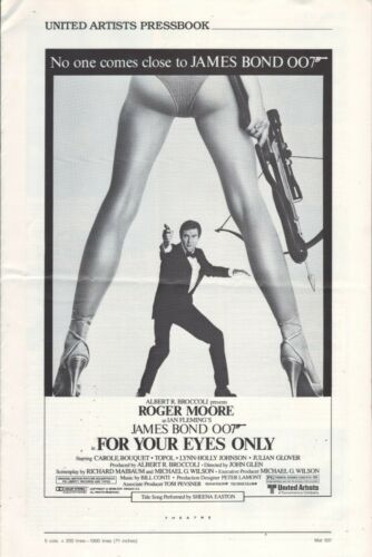 For Your Eyes Only (1981) Pressbook - free shipping