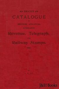British Colonial REVENUE, TELEGRAPH & RAILWAY Fiscal Stamps Catalogue - CD
