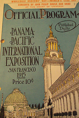 "1915 RARE~OFFICIAL Program Booklet~""PANAMA PACIFIC EXPOSITION""~San Francisco CA~"
