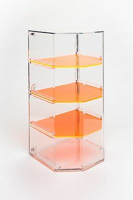 4-shelf Retailbakery Display Case With Removable Shelves