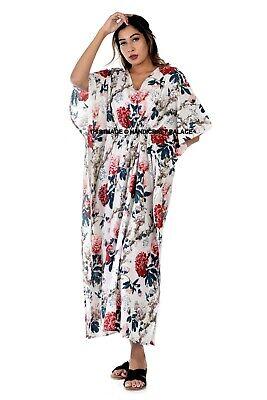 Mujer Kaftán Kimono Vestido Verano Playa Ropa de Abrigo Talla Grande Largo