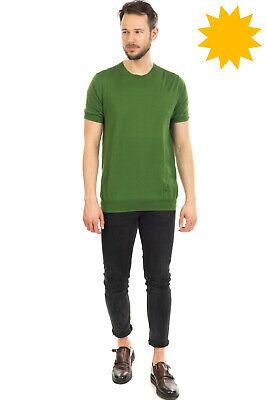 RRP €130 PAOLO PECORA MILANO Jumper Size 2XL Silk Blend Thin Knit Short Sleeve