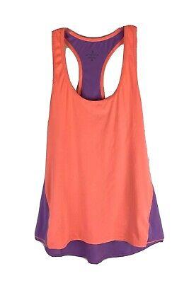 Athleta Racerback Tank Top Yoga light M Medium Purple Orange