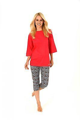 Leopard Capri-pyjama (Damen Pyjama kurzarm mit Caprihose, Capri-Hose im Leopardenlook – 171 204 90 860)