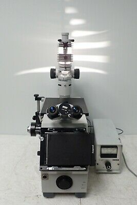 Zeiss Icm-405 Inverted Microscope With 5 Objectives And 910103 Power Supply