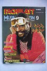Fachblatt Musik Magazin Nr. 9 September 1985 George Clinton Kid Creole Thompson