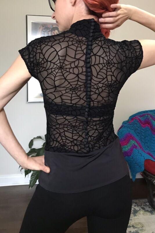 Espen Salberg Practice Dance Wear Top With Swarovski Rhinestones Size S