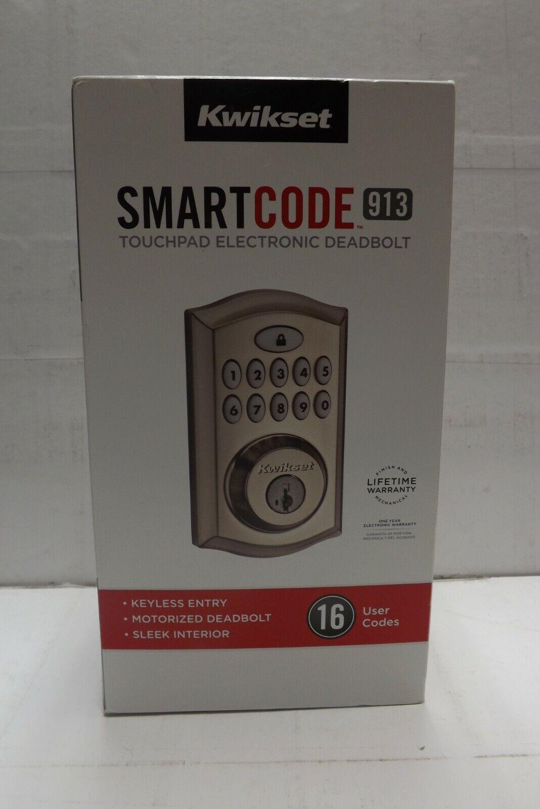 Kwikset 99130-002 Satin Nickel SmartCode Deadbolt