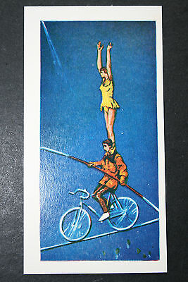 High Wire Circus Act  Original  Illustrated Card  VGC / EXC
