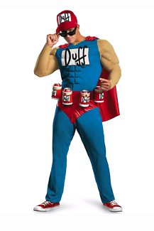 Men's duffman outfit. Great for halloween costume dress up