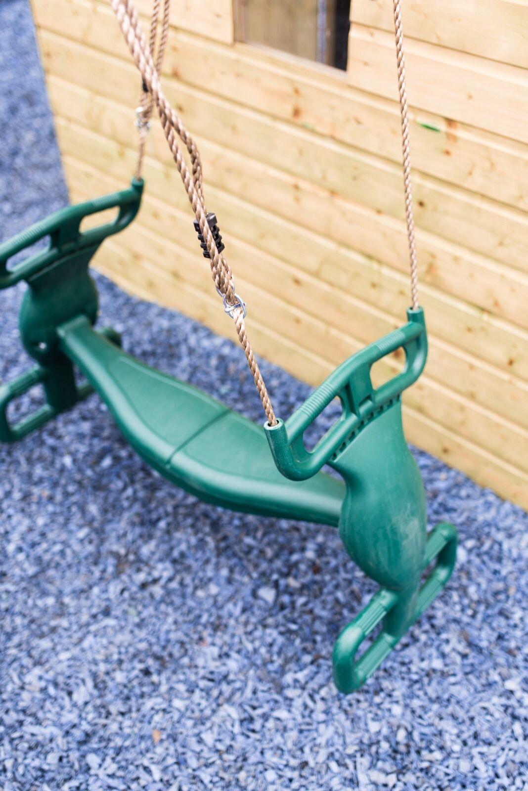Plastic Green Glider Swing Duo Seat
