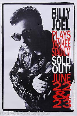 Billy Joel 1990 Plays Yankee Stadium Original Promo Poster Rare