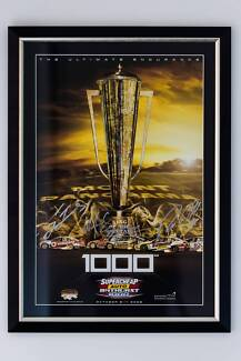 Framed & Hand Signed Bathurst 1000 event posters - Fathers day! Waurn Ponds Geelong City Preview