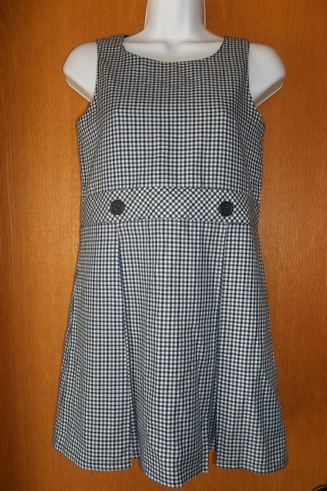 LANDS END Girls School Uniform Jumper Dress Little Girls 8 S