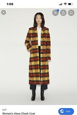 Acne Studios Alexa Plaid Coat Size 38