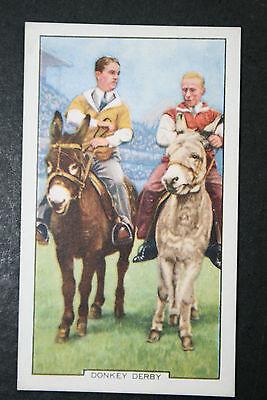Donkey Derby   Original 1930's Vintage Illustrated Card  VGC
