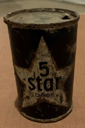 5 Star Beer Can - Super Rare