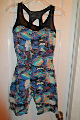 1990s Gilda Marx California Body unitard sz XL multicolor breathable Dance Nice!