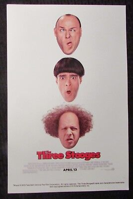 """THE THREE STOOGES 11x17"""" Mini Movie Poster VF- 7.5 Sean Hayes"""