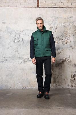 Baumwolle Gepolstert Kleidung (Weste Bodywarme Winterweste gepolstert viele Taschen S bis 5XL Arbeitsweste)